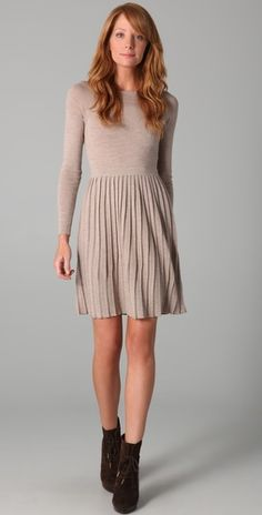 Love this. Would have to get a different color or wear tights to pull the taupe off.