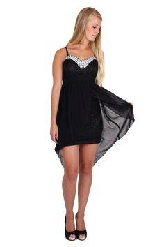 Josie Hi -Low blonde fest kjole