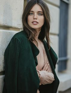 Emily DiDonato layers in sweater and jacket look