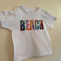 Beach, Retro Surfboards Background, Baby Bodysuit or Toddler Tee.   Custom Made to Order using Carter's brand bodysuits and Rabbit Skins Toddler Tees.  NOTE: THE TODDLER TEES ARE CUT SMALL. ORDER ONE SIZE LARGER THAN USUAL.  Visit us also at RetroBabyWear.com.