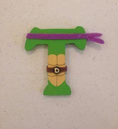 Teenage Mutant Ninja Turtles Wood letter. Donatello