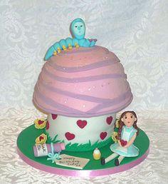 Bespoke Alice in Wonderland toadstool birthday cake by EvaRose Cakes