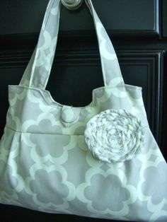 Cloud Cover Pleated Handbag by ThePlumPinCushion on Etsy, $44.00