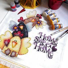 As galinhas sempre fazem o maior sucesso na pintura. 🐔🐥 #artesanatobrasileiro #artesanato #artesania #handmade #handcraft #pinturaemtecido… Pintura Country, Country Paintings, Animal Books, Pictures To Draw, Folk Art, Art Projects, Cow, Applique, Geek Stuff