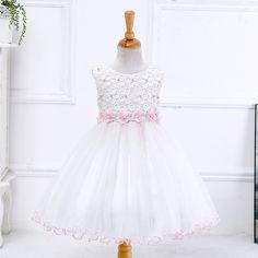>> Click to Buy << Retail 2017 New Arrival Summer Children Dress Flowers Girl Dress Wedding Dress White Evening Dress  Party LYD004 #Affiliate