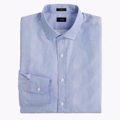 J. CREW Blue SHIRT Medium LUDLOW 100s 2 PLY Cotton MENS Size SZ 99467 End ON End #JCrew