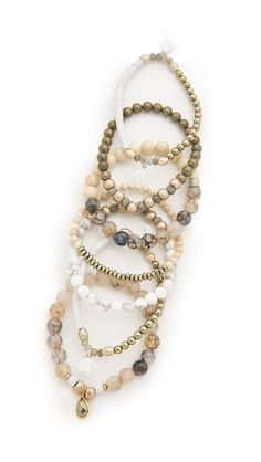 Lacey Ryan St. Tropez Bracelet Set i like how she uses stones from one bracelet and adds them to another. and then beads from that bracelet are now used on another - wonderful continuity