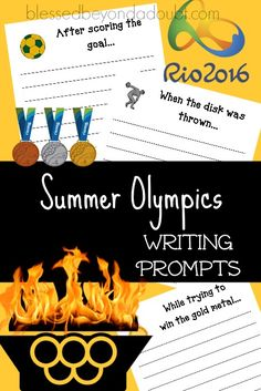 FREE Summer Oylmpics writing prompts are the perfect way to get your children writing this summer.