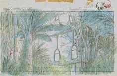 Film: Castle In The Sky ===== Layout Design: Laputa's Greenhouse ===== Production Company: Studio Ghibli ===== Director: Hayao Miyazaki ===== Producer: Isao Takahata ===== Written by: Hayao Miyazaki ===== Distributed by: Toei Company
