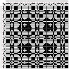 Hand Weaving Draft: frickinger-wbb-43, Frickinger, Johann Michael. Weber-Bild-Buch, from Ralph Griswolds archive, 4S, 4T - Handweaving.net Hand Weaving and Draft Archive