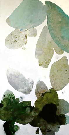 """Meredith Pardue - Lichen XIII: 72"""" x 36"""" ink, oil, & charcoal on canvas, 2013 Available @ Ann Connelly Fine Art [Baton Rouge]"""