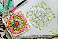 It is a website for handmade creations,with free patterns for croshet and knitting , in many techniques & designs. Point Granny Au Crochet, Granny Square Crochet Pattern, Crochet Diagram, Crochet Chart, Crochet Squares, Knit Crochet, Mandala Au Crochet, Crochet Motifs, Crochet Blocks