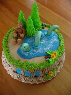 birthday cake dream.  Bigfoot, Nessie, all it needs is a gnome in the corner and it would be the perfect cake for me