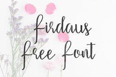 DLOLLEYS HELP: Firdaus Free Font
