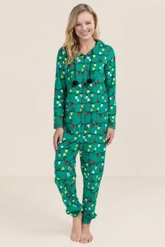 Ashley Holiday Lights Pajama Onesie