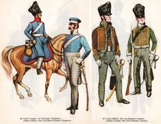 PRUSSIENS BLEU: trooper, 1st Konig's Dragoons Officer, 2e Dragons (1st West Prussian) NOIRS: Officier, 4e Hussards (1er Silesians) Trooper, 6e Hussards (2nd Silesians)