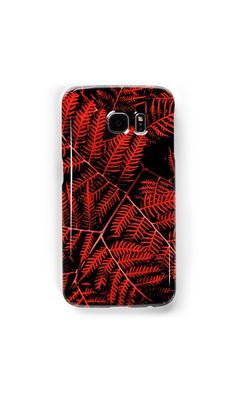 'Flaming Bracken' Samsung Galaxy Cases & Skins by Moonshine Paradise  #redbubble #nature #art #photography #tech