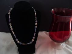 Egyptian bead style necklace. by SDJewelryandDesign on Etsy