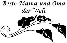 Calla Blüten mit nettem Spruch zum Muttertag