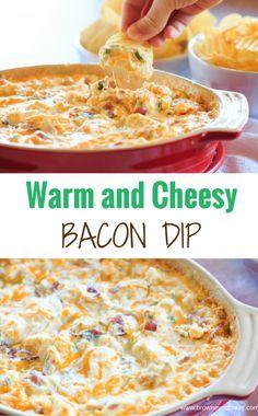Warm and Cheesy Bacon Dip
