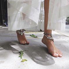 Tread lightly #Hautehippie #lauracantu #anklecandy #summer