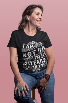 moms birthday birthday funny gift ideas, birthday tshirts for women and men. This fu birthday funny gift ideas, birthday tshirts for women and men. This funn Funny 50th Birthday Gifts, Moms 50th Birthday, 50th Birthday Quotes, Birthday Presents For Mom, Birthday Ideas, Gold Birthday, Birthday Month, Birthday Cards, Baby Costumes For Boys