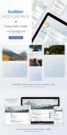 Mockup your perfect Profile Page in seconds! Everything you need to mockup your Twitter profile pages, tweets, photos, videos, link previews & more - before they go live! #AffiliateLink Twitter Template, Mockup, Profile, Social Media, Templates, Live, Videos, Photos, User Profile