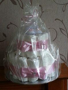 Nappy Cake .. Handmade by .. Lolabelle Handmade Cards and Keepsakes