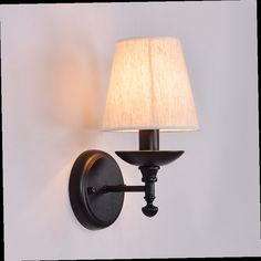 48.00$  Buy here - http://aliq1r.worldwells.pw/go.php?t=32328805196 - American brief vintage personality bedroom bedside wall lamp Scandinavian style iron lamp E27 48.00$
