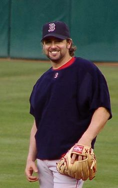 Kevin Millar, Boston Red Sox. Before games at Fenway they used to play the video of Kevin doing his best Bruce Springsteen 'Born in the USA' impression. We love Millaaahhh!