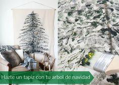 enrHedando: Arbol de navidad en tapiz paso a paso tutorial