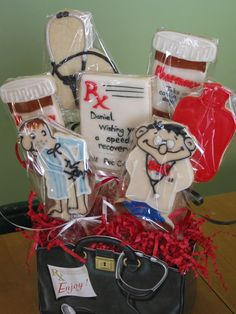 get well cookie bouquet - 7 cookie bouquet for someone coming home from the hospital