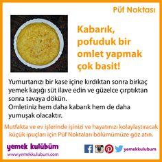 YEMEK YAPMANIN PÜF NOKTALARI : Kabarık pofuduk omlet yapmak çok basit?  http://yemekkulubum.com/puf-noktasi-liste/yemek-hazirlama-ile-ilgili-puf-noktalari  #yemek #omlet #yumurta #kızarmışyumurta #yemekhazırlama #sütlü #yemekyapma #püfnoktası #püfnoktaları #pratikbilgiler #ipucu #ipuçları