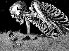 Le Gashadokuro, un démon né des remords et rancunes de ceux qui sont morts seuls et loin de tout.