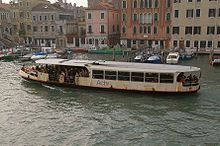Vaporetto: A vaporetto is a waterbus in Venice, Italy. There are 19 scheduled lines that serve locales within Venice, Italy, and travel between Venice and nearby islands