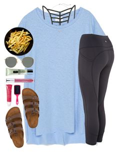 A fashion look from May 2016 featuring Zara t-shirts, RVCA and Birkenstock sandals. Browse and shop related looks. Lazy Day Outfits, College Outfits, Spring Outfits, Casual Outfits, Cute Outfits, Comfortable Outfits, School Outfits, Fasion, Fashion Outfits