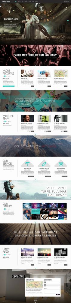 Buy Pulsar - One Page Parallax Website Template by AVAThemes on ThemeForest. Description If you are searching something different and out of the line, please check out the Pulsar – Fully Respon. Web Layout, Website Layout, Layout Design, Website Ideas, Site Inspiration, Graphic Design Inspiration, Game Design, Site Vitrine, Responsive Layout