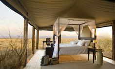 Wolwedans Dunes Camp, #Namibia. Wake up to a beautiful sunrise over the desert. #honeymoon #romance
