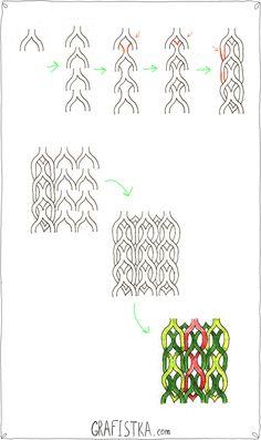 Плетеный орнамент, doodle урок №39