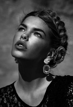♂ Black and white woman portrait
