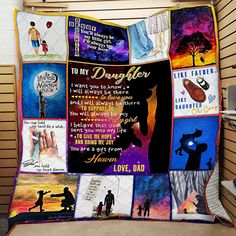 MP2309 - Love - To My Daughter - Quilt – Everyday Trendz Heated Blanket, Cooling Blanket, Wool Blanket, Like Father Like Daughter, Give It To Me, Love You, Gift From Heaven, Cat Quilt, Quilts For Sale
