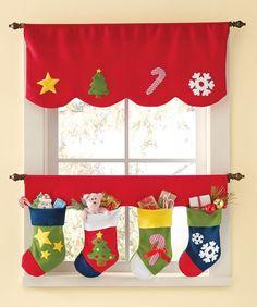 Ideas para decorar cortinas en navidad | Hoy LowCost | Navidad ...