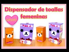 Dispensador de toallas femeninas Kawaii - YouTube