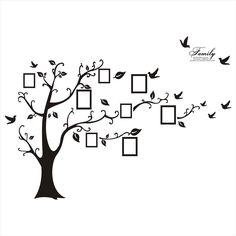 Family Tree Wall Decal Sticker Removable Picture Frame Photo Home Room Art Decor $14.51