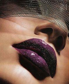 Hello Gorgeous purple lips.  My favorite color of lipstick, except perhaps fuchsia/magenta.