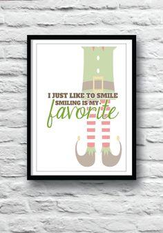 8x10 Digital Files  Christmas Print  Elf Smiling is my by JMPaper, $10.00