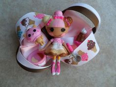Lalaloopsy Scoops Waffle Cone Doll Bow