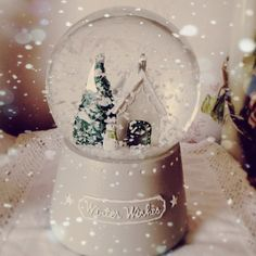winter wishes - Snow Globe. #snowglobe #winter #decoration