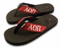 Alpha Omicron Pi Flip Flops SALE $21.95. - Greek Clothing and Merchandise - Greek Gear®