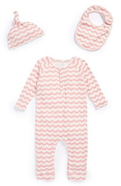 Stem Baby Organic Cotton Romper, Cap & Bib (Baby Girls) available at #Nordstrom